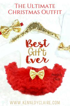 c56420ba833d Baby Girl Christmas Outfit is adorable! Love the Christmas Tutu Outfit  Toddler Christmas Outfit,