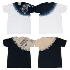 絞り染Tシャツ「隻眼龍」