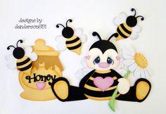 Abelha Paper Punch Art, Paper Art, Bug Crafts, Paper Crafts, Scrapbook Albums, Scrapbook Paper, Bee Art, Treasure Boxes, Box Design