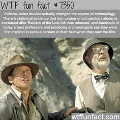How Indiana Jones influenced many current archaeologists - WTF fun facts