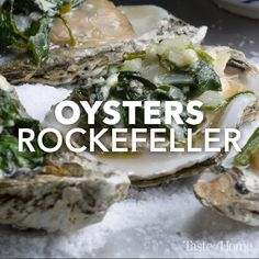 Seafood Appetizers, Seafood Dishes, Seafood Recipes, Cooking Recipes, Baked Oyster Recipes, Oysters Rockefeller, Air Fryer Recipes Easy, Fish Dinner, Appetisers