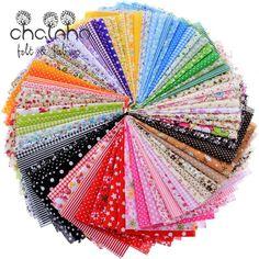 Zufällig Dünne Baumwolle Stoff Patchwork Für Nähen Scrapbooking Fat Quarters Tissue Quilt Muster Hand Album 80 stücke 20*24 cm