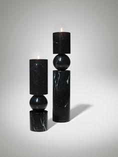 Buy Lee Broom Fulcrum Candlestick Black Marble online with Houseology's Price Promise. Full Lee Broom collection with UK & International shipping. Marble Candle, Candle Sconces, Pillar Candles, Candle Stand, Candle Holders, Luxury Home Accessories, Chandeliers, Lee Broom, Marble Furniture