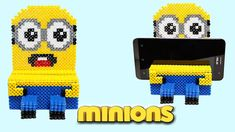 Minion Portacellulare con Hama Beads /Phone Stand Perler Beads