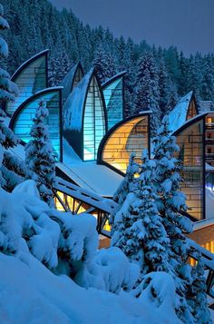 Tschuggen Grand Hotel - Arosa, Switzerland  Pretty, but I don't enjoy cold unless I am staying inside with a warm fire, a Bailey's coffee and a sexy man.