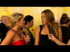Lauren Alaina co-hosts CMAs Red Carpet (Colbie Caillat & Justin Lynch In...