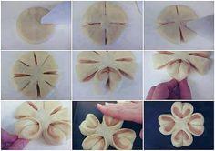 Come fare fiore di pane ripieno - Spettegolando