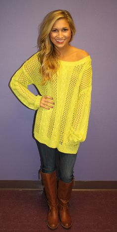 Cozy Limelight from Impressions Boutique $42
