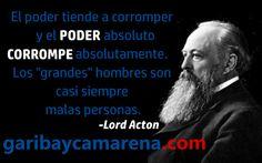 Lord Acton es uno de los filósofos políticos e historiadores más importantes del mundo moderno y su talento se refleja