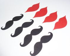 25 - 3 inch mustache cut outs  25 - 3 inch lip cut outs cut from 80# card stock.