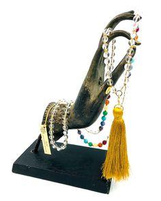 ZENITUDE COLLECTION MALA COLLECTION #necklace #stones #cristal #gemme #mala - La collection Mala est composée de pierres semi-précieuses - 108 perles #Les Collections AUM :: creation-aum.com