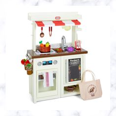Best Play Kitchen, Toddler Play Kitchen, Toy Kitchen Set, Pretend Play Kitchen, Kitchen Playsets, Fabric Canopy, Cook Up A Storm, Little Tikes, Jam Jar