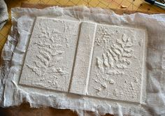 texture with cheesecloth,then stencils
