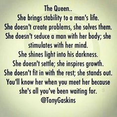 I am and have always been his Rock, his Queen, his Wife.