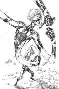 Elongated Man , Ralph Dibny by Brett Booth Dc Comics Vs Marvel, Dark Comics, Comics Love, Comic Book Artists, Comic Books Art, Comic Art, Brett Booth, The New Teen Titans, Alternative Comics