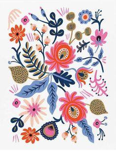 Russian Folk Print