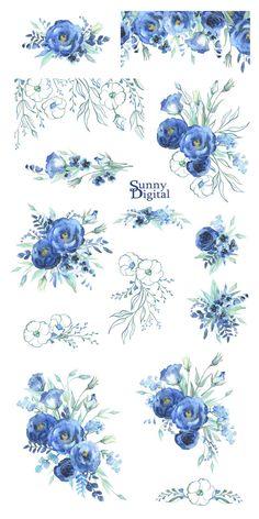 Decoupage Vintage, Decoupage Paper, Flower Frame, Flower Art, Cactus Flower, Mint Bouquet, Illustration Blume, Bouquet Images, Clip Art