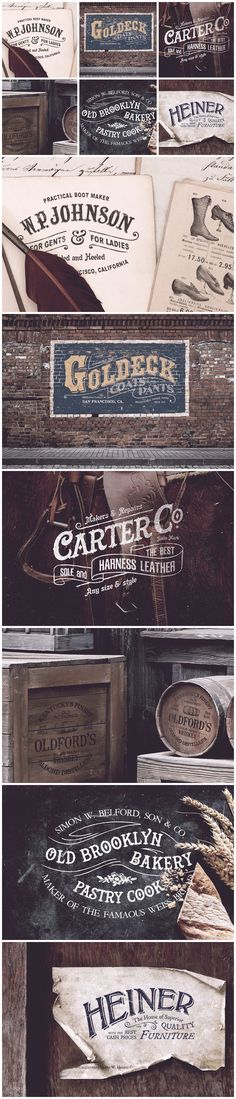 Vintage Graphic Design Century Vintage Logo Template designs: inspiration for your next branding project Vintage Logos, Vintage Type, Vintage Typography, Typography Design, Retro Logos, Vintage Branding, Wedding Vintage, Vintage Ideas, Vintage Shirts