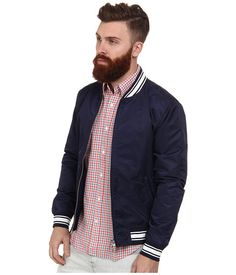 Retro nylon varsity jacket from Gant Rugger. #jackets #fashion #menswear