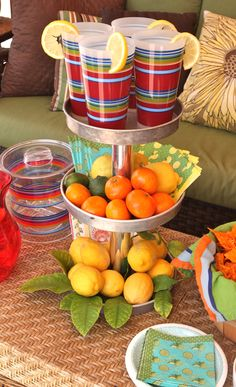 My 3 tier tray made with items from #Goodwill is ready to served some refreshing summer drinks.  #thrift #outdoor #decor #gazebo