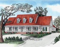 <!-- Generated by XStandard version 2.0.0.0 on 2013-09-17T10:07:30 --><ul><li>Welcome Home to Southern Charm! This beautiful house plan features a 4 bedroom split plan, secluded master suite with whirlpool tub, double closets and double vanity.</li><li>Bedrooms 3 and 4 offer a jack and jill bath.</li><li>Spacious living area, large kitchen and spacious utility area with freezer space and covered front and rear porches make this a plan ready ...
