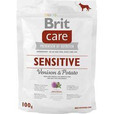 Har din hund sensitiv mave, allergi eller fødevareintolerance? Så prøv Brit Care Sensitive Venison & Potato Venison, Omega 3, Allergies, Protein, Pork, Potatoes, Nutrition, Immune System, Deer Meat