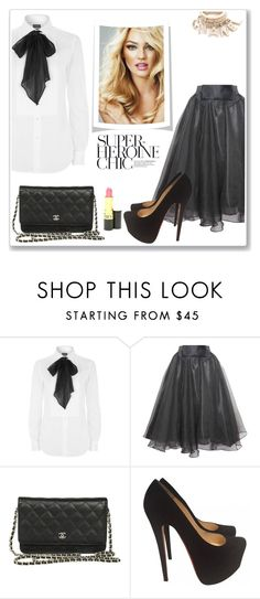 """""""Super Chic"""" by christinacastro830 ❤ liked on Polyvore featuring Polo Ralph Lauren, Relaxfeel, Olsen, Chanel, Revlon and Christian Louboutin"""
