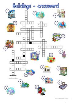 Buildings crossword worksheet - Free ESL printable worksheets made by teachers