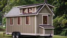 """The """"Ynez"""" Tiny House on Wheels by Timbercraft Tiny Homes Tiny House Movement // Tiny Living // Tiny House Siding // Tiny Home Trailer // Tiny House Exterior, Tiny House Builders, Tiny House Nation, Tiny House Trailer, House Siding, Tiny House Plans, Tiny House On Wheels, Tiny House Design, Building A Container Home"""