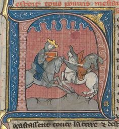 Roi Baudouin IV battant Saladin près d'Ascalon.