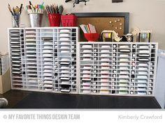 5 Days to an Organized Crafty Stash 2016 – Ink Organization Ink Pad Storage, Stamp Storage, Craft Organization, Craft Storage, Storage Ideas, Craft Desk, Craft Rooms, Mft Stamps, Storage Solutions