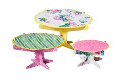 Poppytalk pour Target – Assiettes à gâteau sur pied, ensemble de 3,7$.