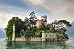 Loreto Isle, Iseo Lake, Italy.