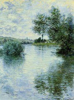 The Seine at Vétheuil - Claude Monet 1879 Oil on canvas 81 x 60 cm Musée des Beaux-Arts, Rouen, France