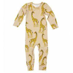Mini Rodini Giraffe Ll Body In Beige