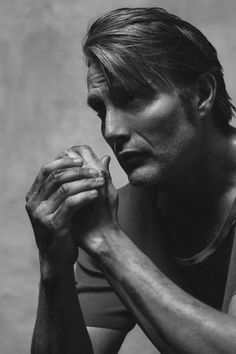 Mads Mikkelsen, the danes know the power of the forearm.   And a chiseled jawline.