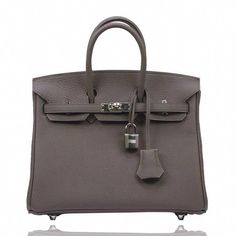 995dedcefdb4 View this item and discover similar shoulder bags for sale at - Hermes  Birkin 25 Togo Leather Etain Color Palladium Hardware 2017 Pristine  condition.