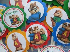 Alvin and the Chipmunks Cupcake Toppers