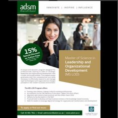 Enroll for Abu Dhabi School of Management in Leadership and Organizational Development. For more info http://www.edarabia.com//master-of-science-in-leadership-/