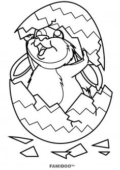 Easter Coloring Pages See More Coloriage Lapin Dans Un Oeuf De Paques