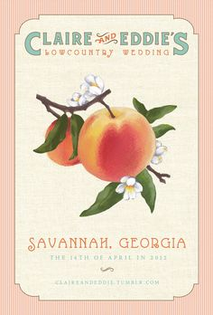Southern, vintage save the date I created with illustrator