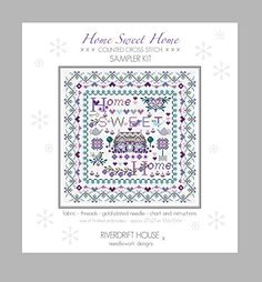 HOME SWEET HOME Counted Cross Stitch Kit Riverdrift House - another brilliant Riverdrift House kit