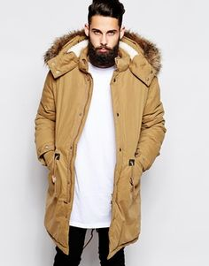 Buy ASOS Fishtail Parka With Thinsulate at ASOS. With free delivery and return options (Ts&Cs apply), online shopping has never been so easy. Get the latest trends with ASOS now. Asos, Nylons, Urban Fashion, Mens Fashion, Urban Hip Hop, Winter Outfits, Casual Outfits, Fishtail Parka, Masculine Style