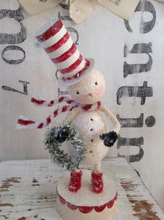 Christmas Snowman, Winter Christmas, All Things Christmas, Christmas Holidays, Christmas Ornaments, Vintage Christmas Crafts, Rustic Christmas, Holiday Crafts, Snowman Decorations