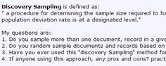 Discovery sampling size depends on expertise of the auditor