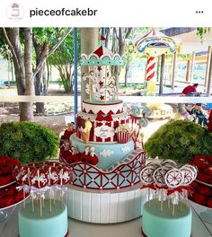 Circus Theme Cakes, Themed Cakes, Love Cake, Holiday Decor, Biscuit, Home Decor, Parks, Theme Cakes, Decoration Home