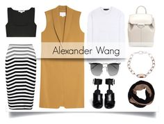 """Wang, A."" by pattykake ❤ liked on Polyvore featuring Alexander Wang"