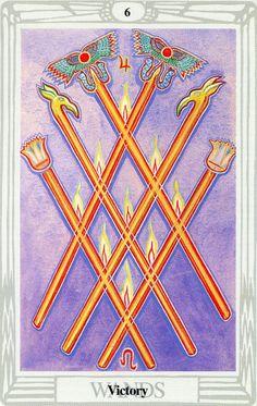 6 de bâtons (Victory) - Tarot Thoth par Aleister Crowley