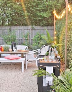 Outdoor String Lights + Entertaining Summer Nights
