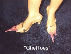 Ugly Feet?  Don't let it happen to you. Visit: http://www.bareindulgence.net for foot scrubs, body butters and bath salts n more!!
